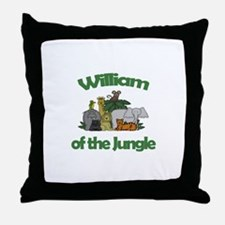 William of the Jungle Throw Pillow
