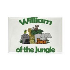 William of the Jungle Rectangle Magnet
