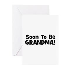 Soon To Be Grandma! Greeting Cards (Pk of 20)
