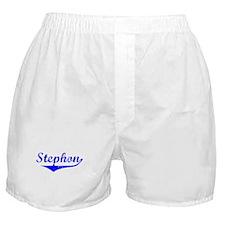 Stephon Vintage (Blue) Boxer Shorts