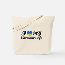 I love my Ukrainian wife Tote Bag