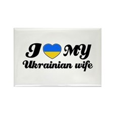 I love my Ukrainian wife Rectangle Magnet