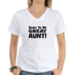 Soon To Be Great Aunt!  Women's V-Neck T-Shirt