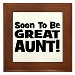 Soon To Be Great Aunt!  Framed Tile