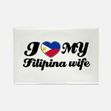 I love my Filipina wife Rectangle Magnet