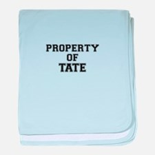 Property of TATE baby blanket