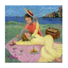 Picnic By The bay -- Tile Coaster