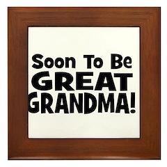 Soon To Be Great Grandma! Framed Tile