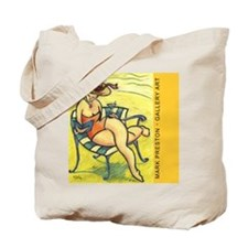 The Original Lounging Lady -- Tote Bag