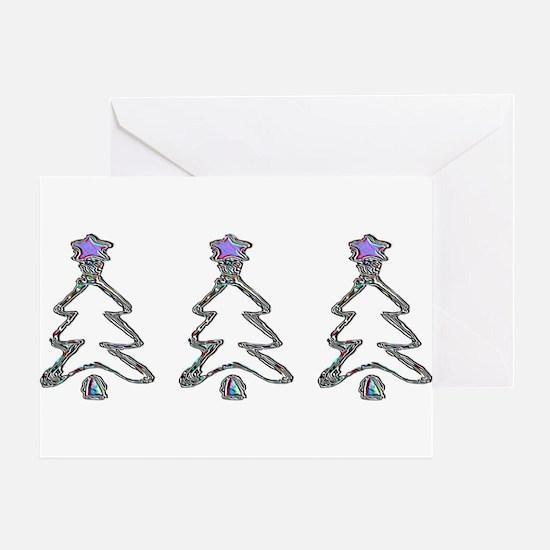 THREE SHINEY TREES Greeting Card