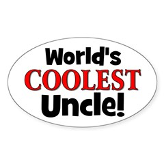 World's Coolest Uncle! Oval Decal