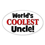 World's Coolest Uncle! Oval Sticker
