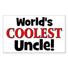 World's Coolest Uncle! Rectangle Decal