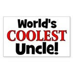 World's Coolest Uncle! Rectangle Sticker