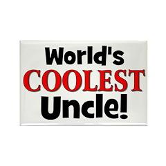 World's Coolest Uncle! Rectangle Magnet