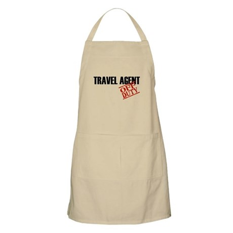 Off Duty Travel Agent BBQ Apron