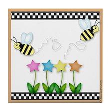 Buzzing Bees Tile Coaster