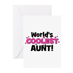 World's Coolest Aunt! Greeting Cards (Pk of 20)
