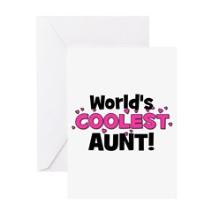 World's Coolest Aunt! Greeting Card