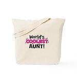 World's Coolest Aunt! Tote Bag