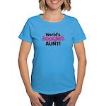 World's Coolest Aunt! Women's Dark T-Shirt