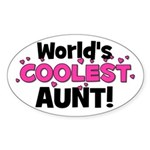 World's Coolest Aunt! Oval Sticker