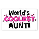 World's Coolest Aunt! Rectangle Sticker