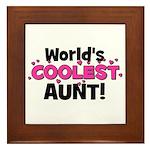 World's Coolest Aunt! Framed Tile