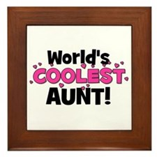 World's Coolest Aunt! Framed Tile