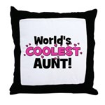 World's Coolest Aunt! Throw Pillow