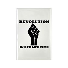 Revolution in Our Life Time Rectangle Magnet
