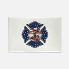 Firefighter USA Rectangle Magnet