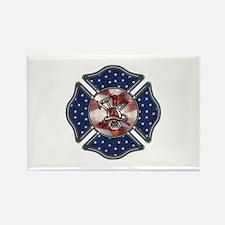 Firefighter USA Rectangle Magnet (10 pack)