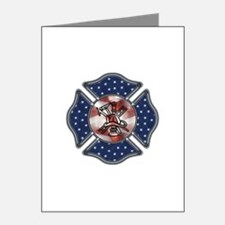 Firefighter USA Note Cards (Pk of 20)