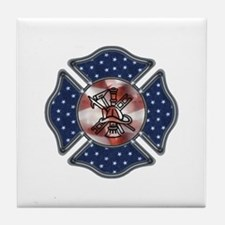 Firefighter USA Tile Coaster