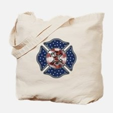 Firefighter USA Tote Bag
