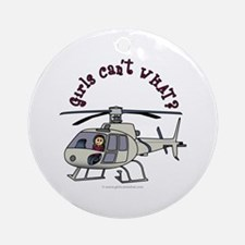 Light Helicopter Pilot Ornament (Round)