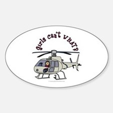 Light Helicopter Pilot Oval Bumper Stickers