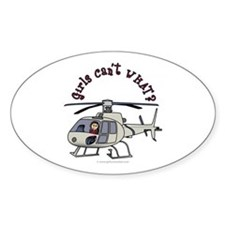 Light Helicopter Pilot Oval Decal