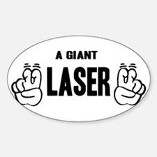 """A Giant """"Laser"""" Oval Decal"""