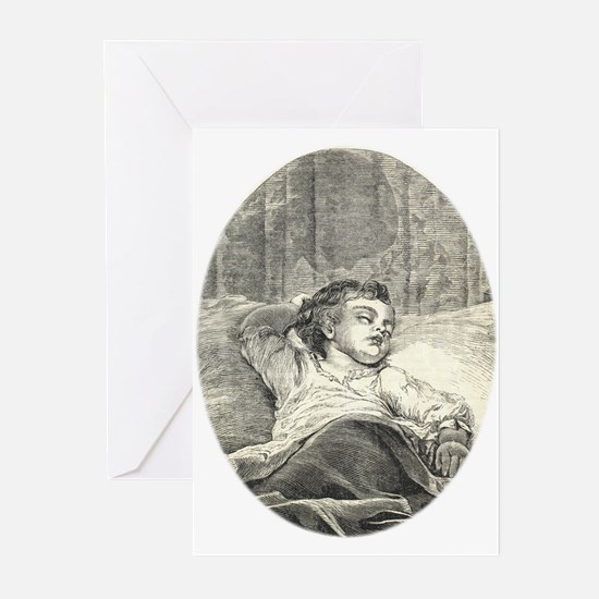 1800s Baby Engraving Greeting Cards (Pk of 10)