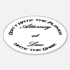 Attorney Player Oval Decal