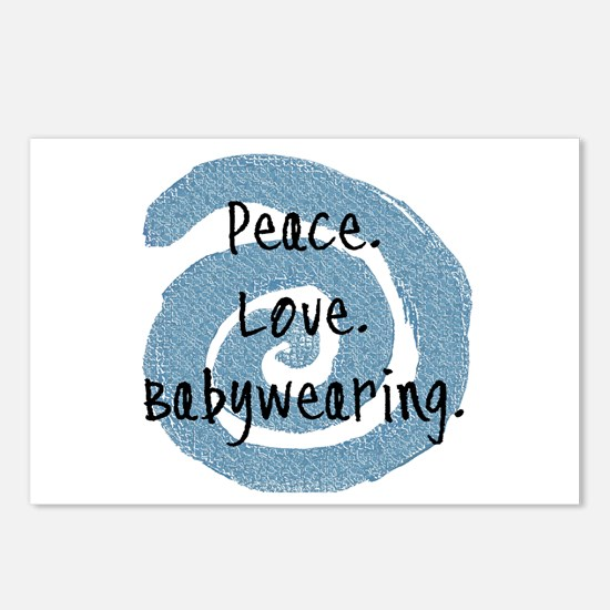 Peace. Love. Babywearing. Postcards (Package of 8)