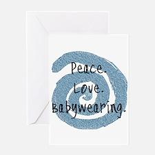 Peace. Love. Babywearing. Greeting Card