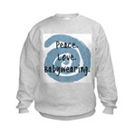 Peace. Love. Babywearing. Kids Sweatshirt