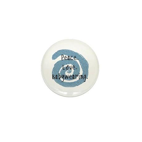 Peace. Love. Babywearing. Mini Button (100 pack)