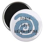 Peace. Love. Babywearing. Magnet