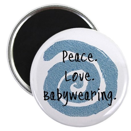 "Peace. Love. Babywearing. 2.25"" Magnet (10 pack)"