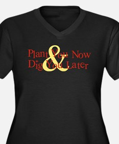 Plant You Now & Dig You Later Women's Plus Size V-