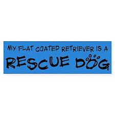 Rescue Dog Flat Coated Retriever Bumper Bumper Sticker